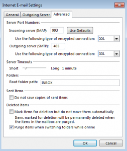 IMAP-Account-Settings