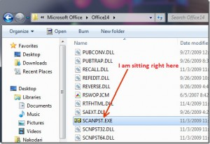 scanpst.exe-Outlook-2010