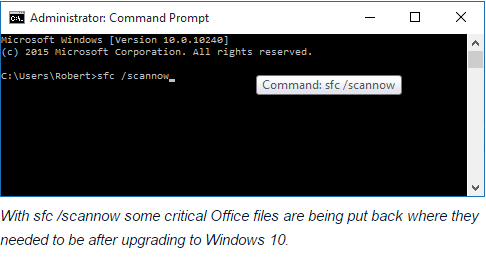 microsoft office not working after windows 10 update