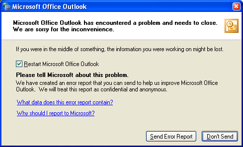 Solutions to fix 'Microsoft Outlook has encountered a