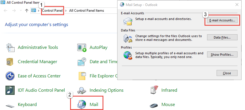 Change properties of Outlook PST file