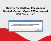 Outlook File Access Denied