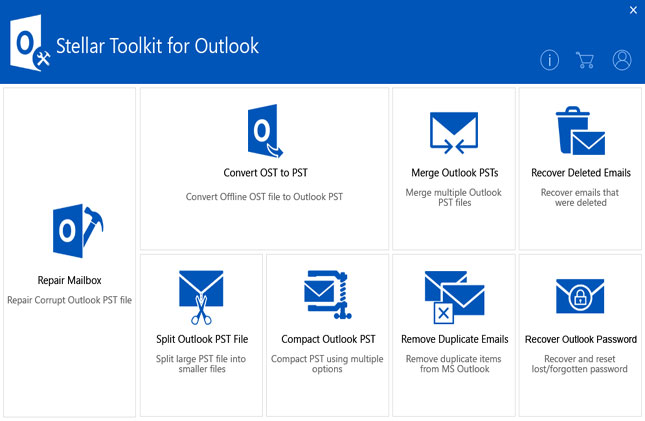 Stellar Toolkit for Outlook screenshot