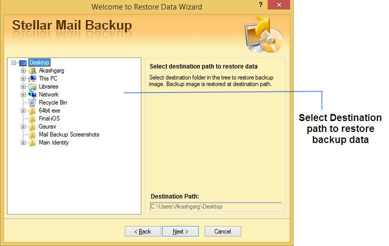 Stellar Mail Backup screenshot
