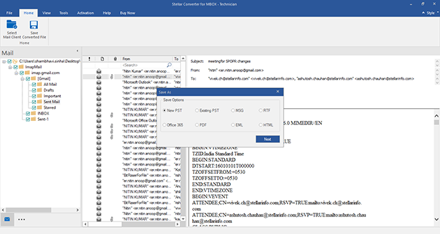 Stellar Converter for MBOX screenshot
