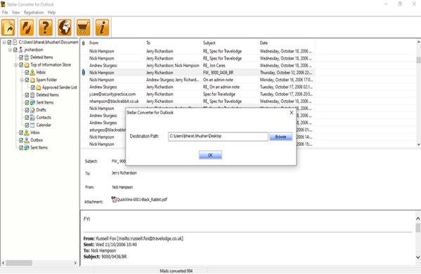 Stellar Converter for PST screenshot