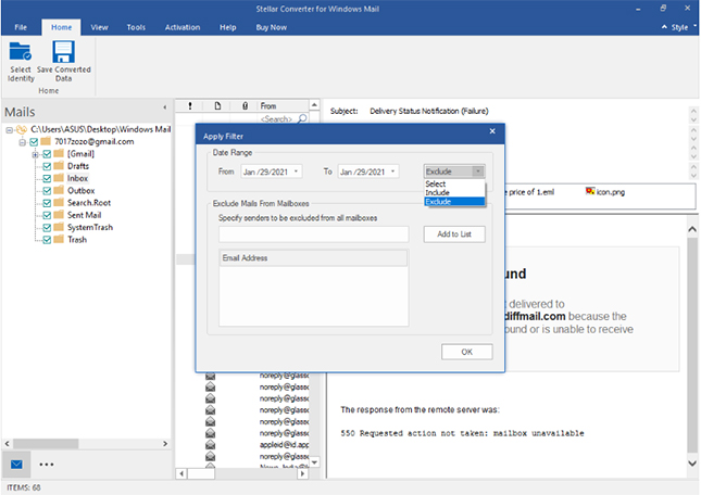 Stellar Converter for Windows Live Mail screenshot